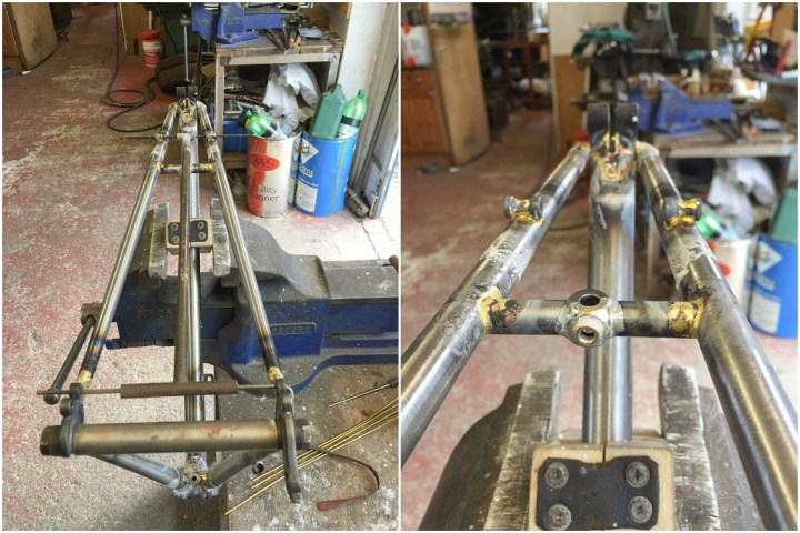 Dave Yates Frame Building Course Day 4 Pannier Bosses