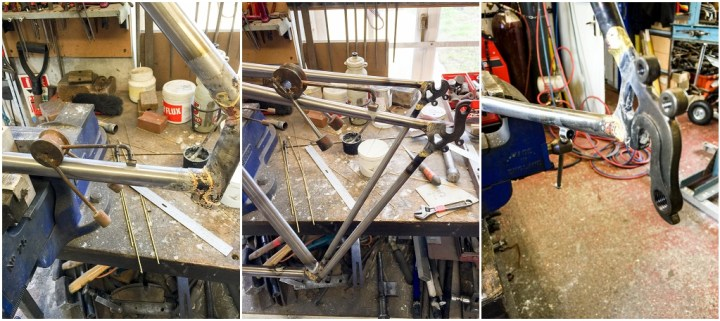 Dave Yates Frame Building Course Day 4 Silver Solder Cable Stops