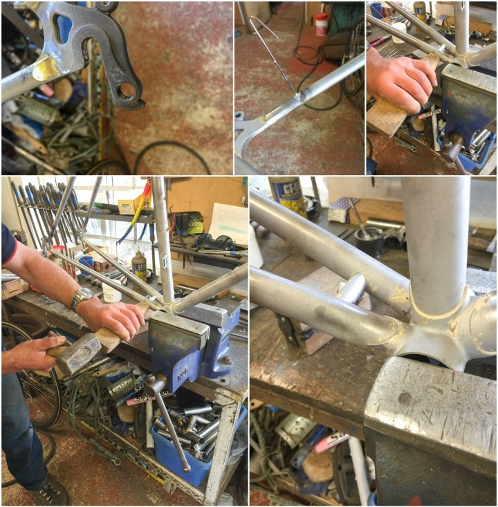 Dave Yates Frame Building Course Day 5 A Few Finishing Touches
