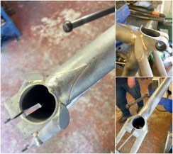 Dave Yates Frame Building Course Day 5 Cleaning Seat Lug Brazing