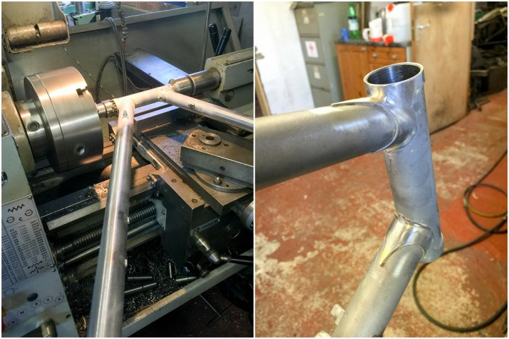 Dave Yates Frame Building Course Day 5 Facing and Cleaning Head Lugs