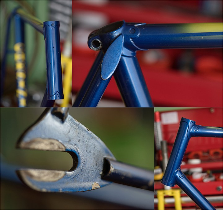 Jan Raas JR 1 78 T SBDU Ilkeston TI-Raleigh Frame Detail