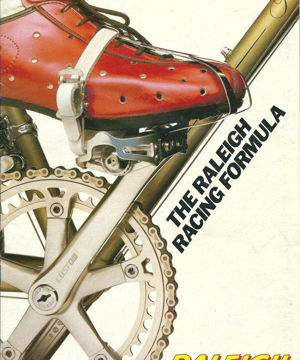 Raleigh Catalogue 1982 Featuring JR178T Jan Raas Track Frame