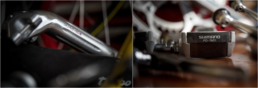 SB8868 SBDU Nottingham Reynolds 753R Raleigh Banana Dura-Ace Seat Pin and Pedals
