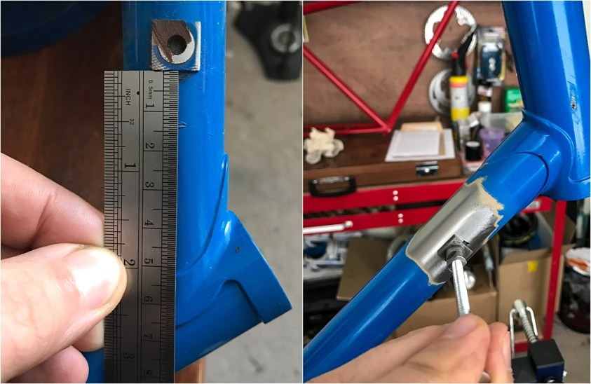 SB6560 1984 531c Services des Courses Panasonic Raleigh Frame Locating Gear Lever Boss