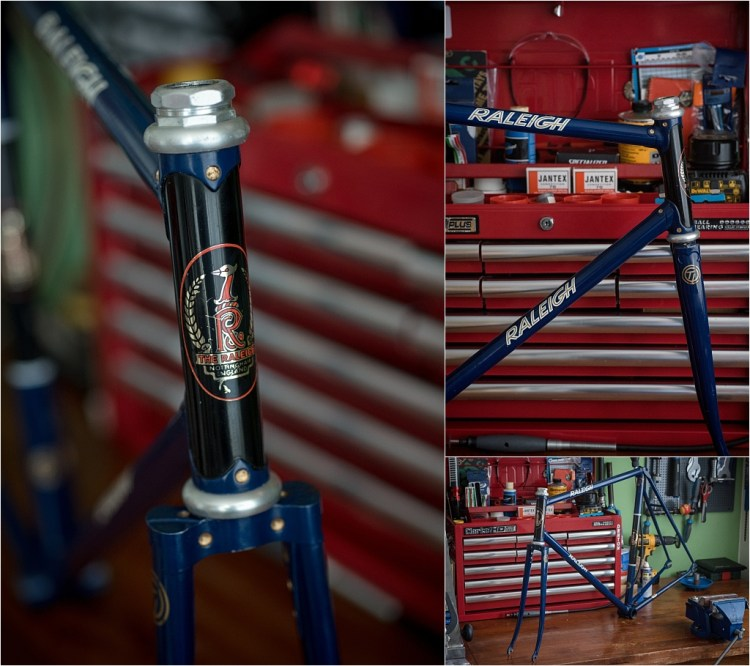 SH377T SBDU Reynolds 753 Pursuit Frame Campagnolo Super Record Track Headset Fitted