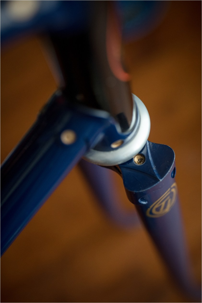 SH377T SBDU Reynolds 753 Pursuit Track Frame Crown Detail