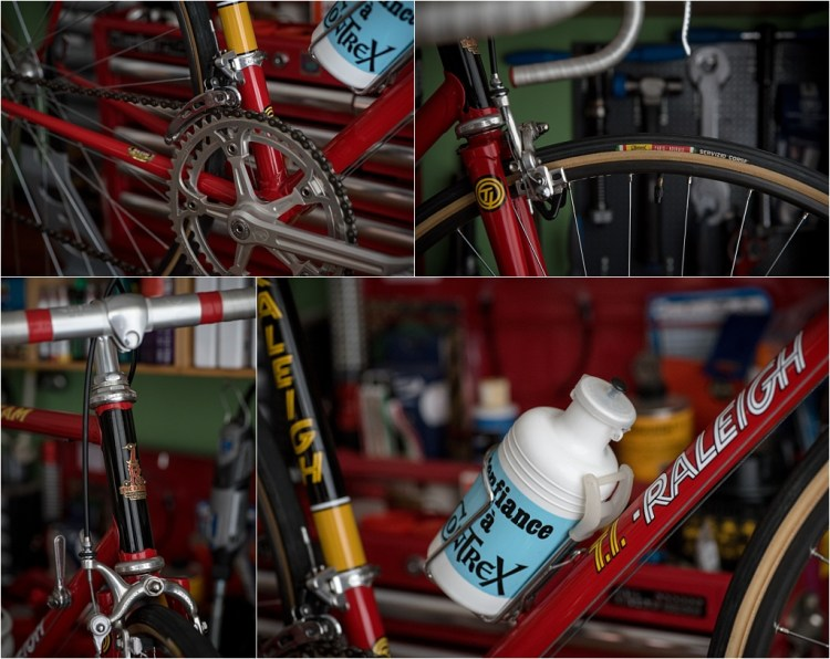 SB4059 1980 TI-Raleigh Team Pro Reynolds 753 Frame and Fork Campagnolo Super Record