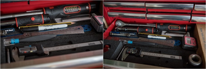 My TI-Raleigh SBDU Workshop Toolbox Torque Wrenches and Rules