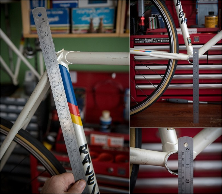 Motor Paced Stayer Frameset Measurements