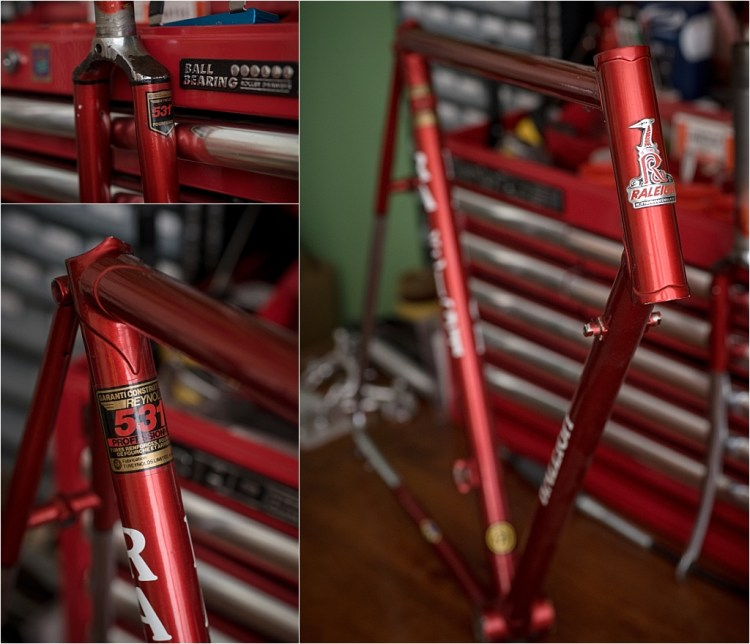 My TI-Raleigh SBDU Collection Waiting in the Workshop SB7219 Original Paint