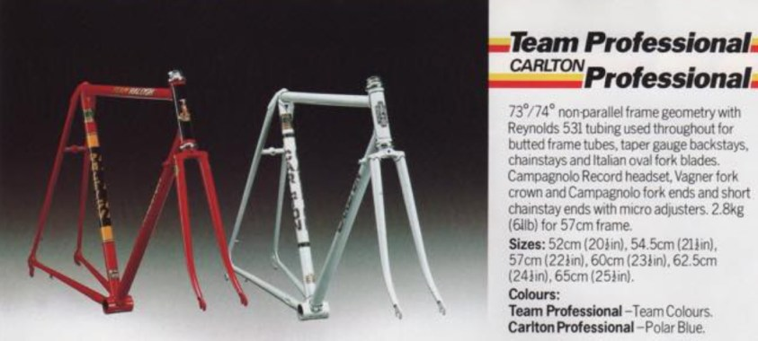 Team Professional Carlton Professional Spring 1981 Catalogue