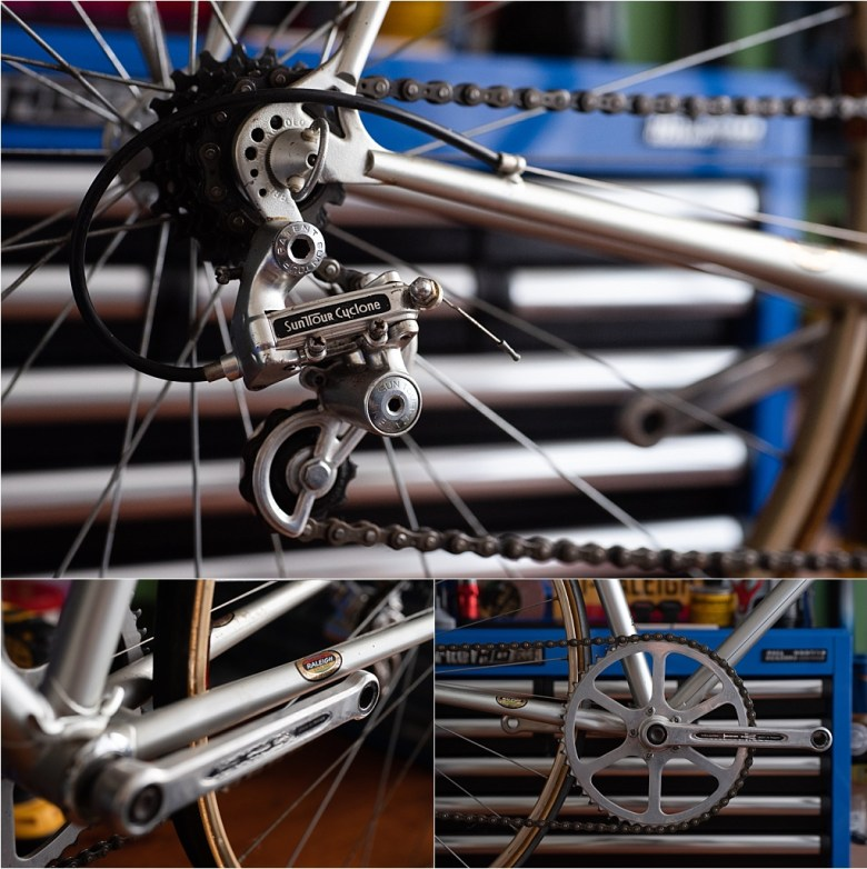 1978 SB2476 Reynolds 753 SBDU Time Trial Special Chainset and Suntour Derailleur