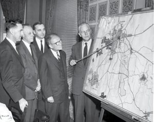 Early RTP planning in 1958.