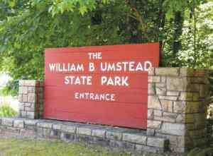 Umstead Park sign