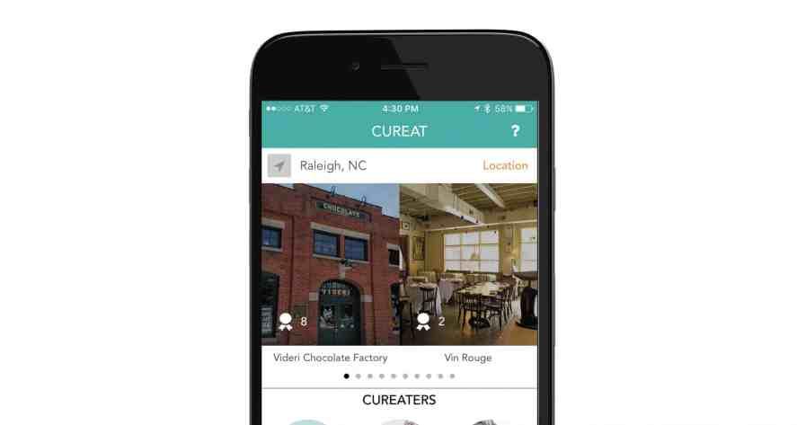 CurEat on iPhone