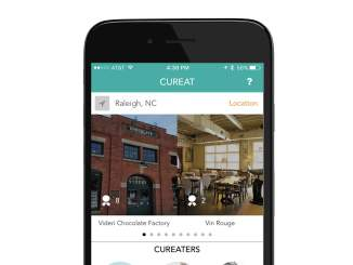 CurEat on iPhone