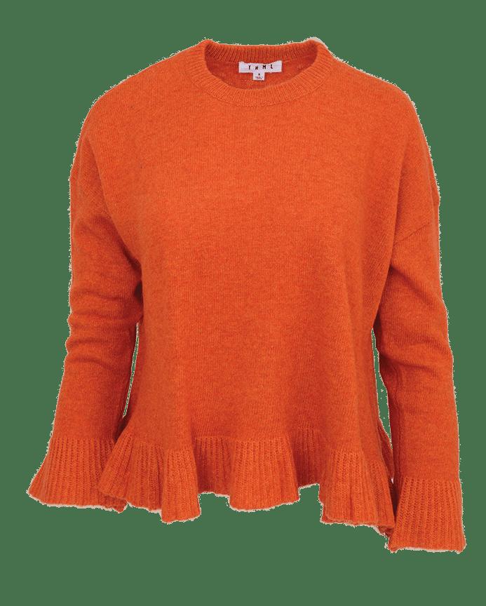 Lili ruffle orange hem sweater