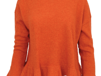 Lili ruffle orange hem sweater
