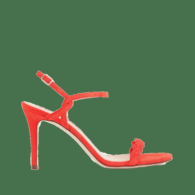 Suede braided sandals