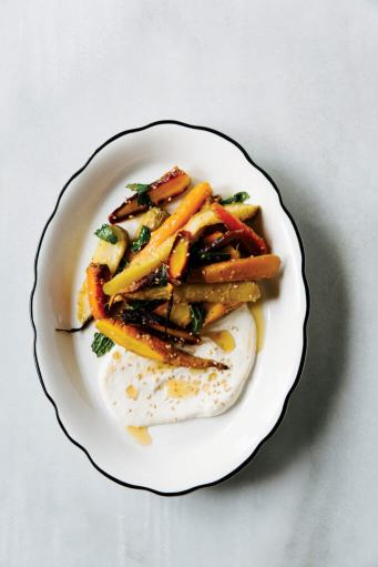 roasted carrots with whipped tahini