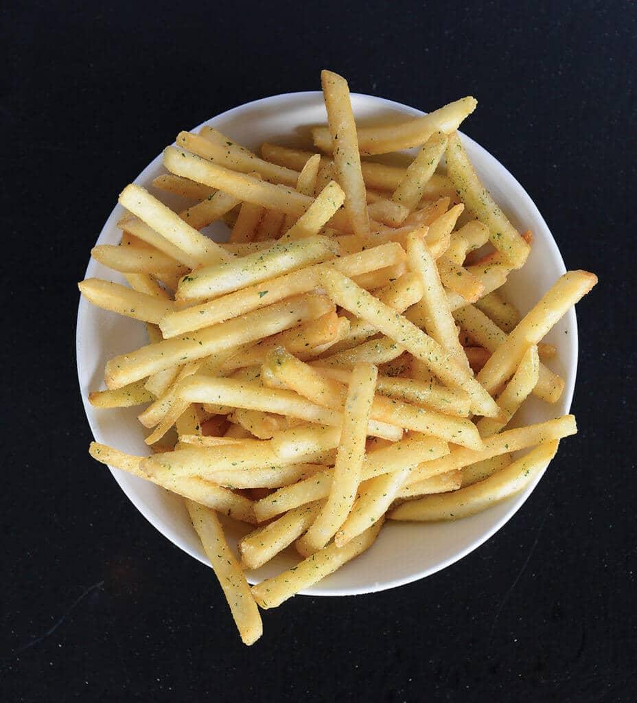 House seasoned fries at Cowfish