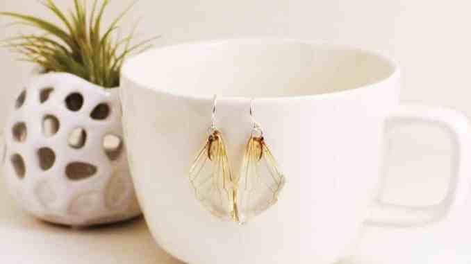 Butterfly wing earrings by Ocelli Creations