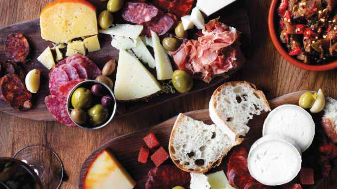 Cheese and charcuterie from Barcelona Wine Bar