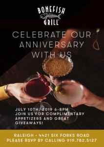 Join Bonefish Grill in Raleigh to Celebrate 18th Anniversary @ Bonefish Grill | Raleigh | North Carolina | United States