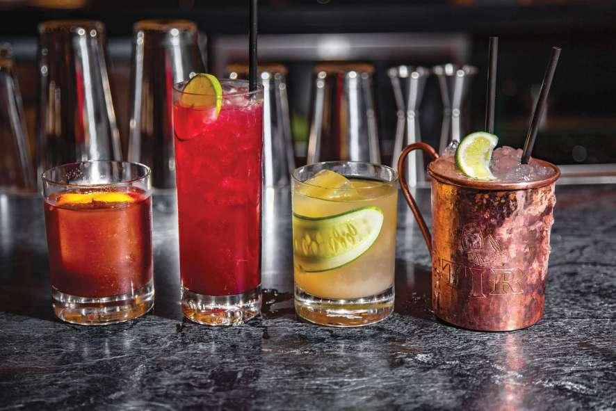 Stir's artisanal ice craft cocktails