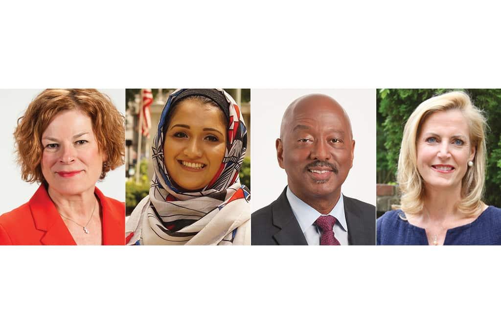 2019 Mayoral Candidates (From Left: Mary-Ann Baldwin, Zainab Baloch, Charles Francis and Caroline Sullivan)