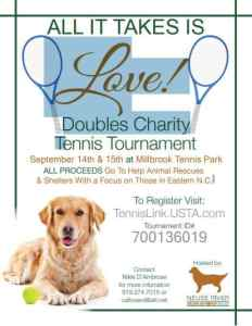 All It Takes Is Love! Doubles Tennis Tournament @ Millbrook Exchange Tennis Club | Raleigh | North Carolina | United States