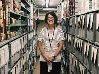 State archivist Sarah Koonts