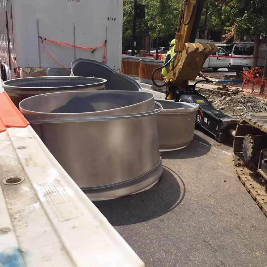 Photo from John Pugh's tweet concerning the Molok trash bins in  the landfill
