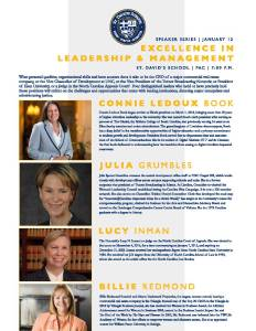Speaker Series: Excellence in Leadership & Management @ St. David' School Performing Arts Center | Raleigh | North Carolina | United States
