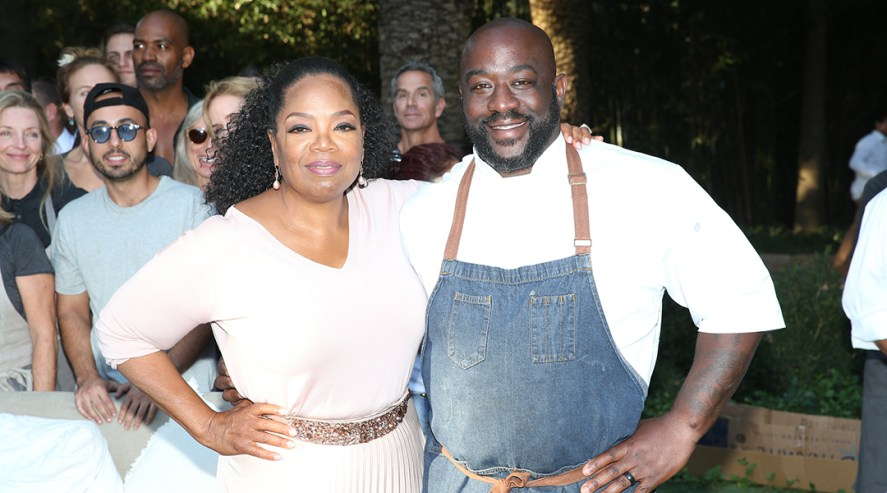 Chef Kenny Gilbert and Oprah