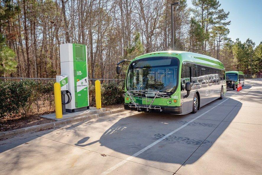 GoTriangle Electric Bus