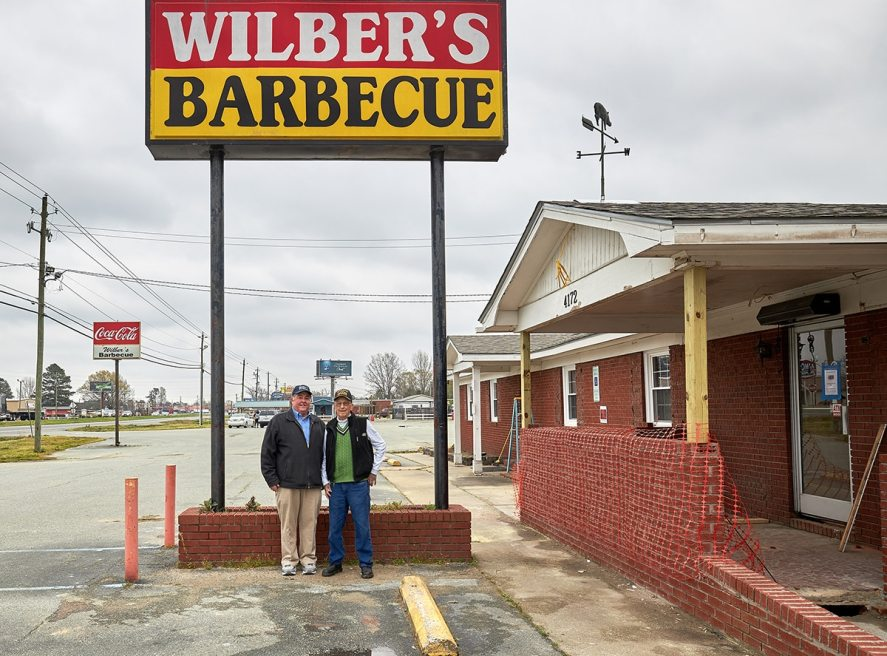Willis Underwood and Wilber Shirley at Wilber's Barbecue