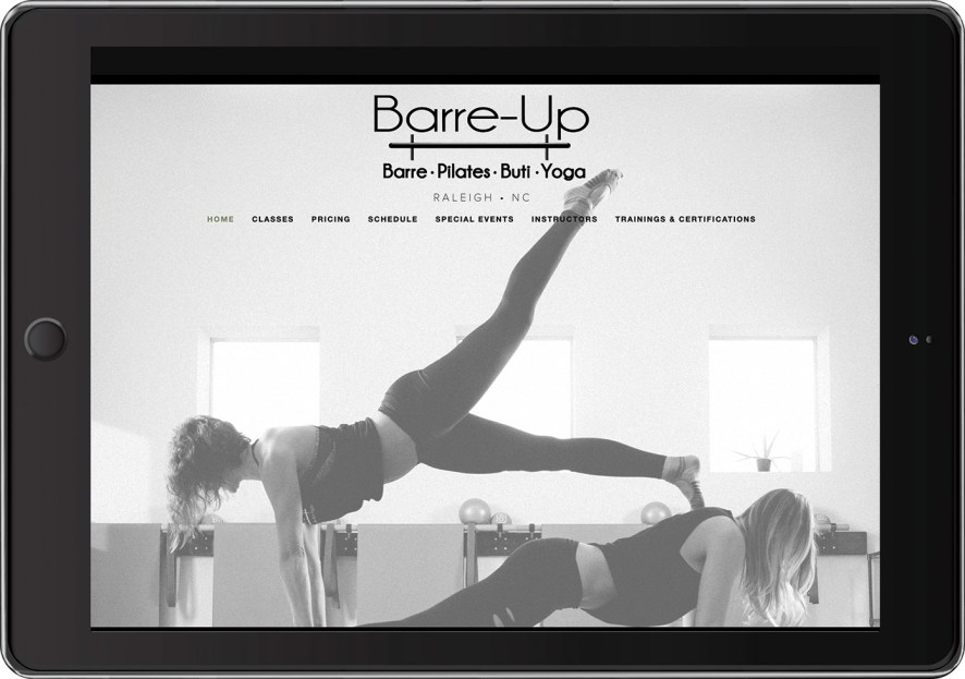 Barre-Up's virtual workout homepage