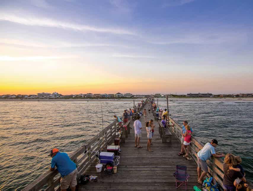 The Oceanana Fishing Pier in Atlantic Beach.