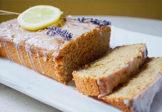 Sarah Thor's Glazed Lavender Lemon Cake Slices, available through East Durham Bake Shop