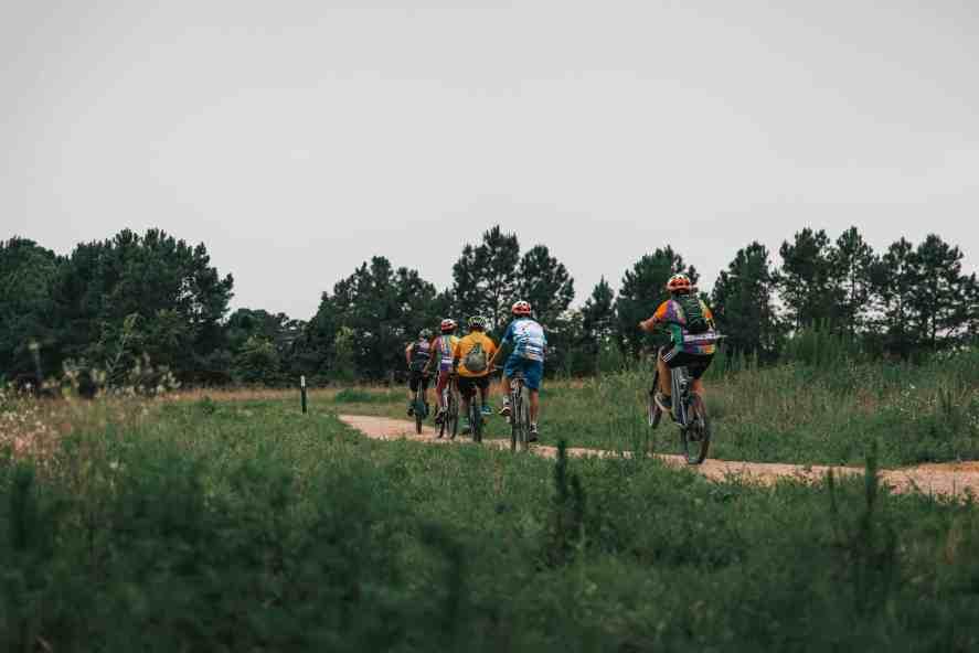 Triangle Bikeworks students at Williamson Preserve
