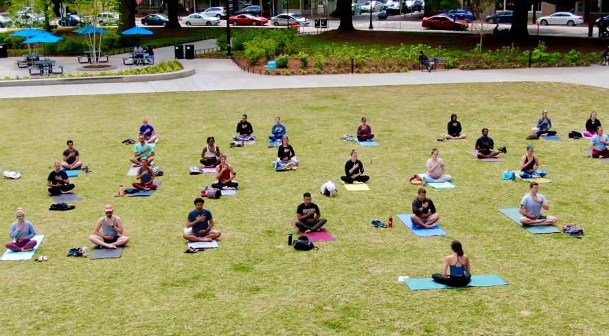 Moore Square Events: yoga