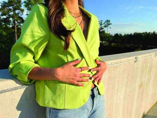 Reverse Raleigh lime green blazer