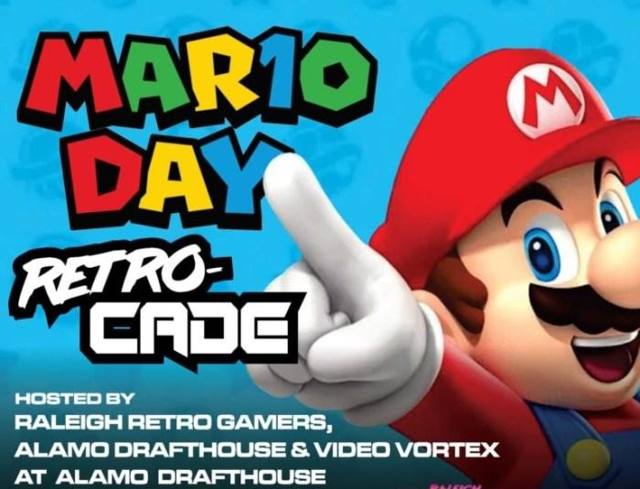 raleigh retro gamers, mario 10, alamo drafthouse, retrocade, mario day, retro gaming raleigh