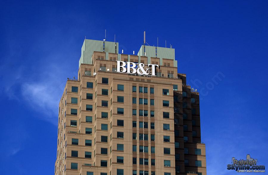 New larger brighter BBT sign  RaleighSkylinecom