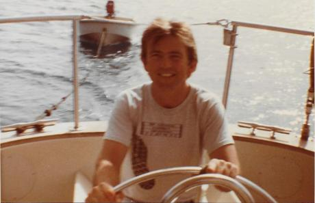 1983 Ray at the helm