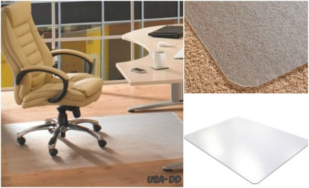 46 X 60 Desk Mat Office Carpet Plastic Protector Chair Floor Dura