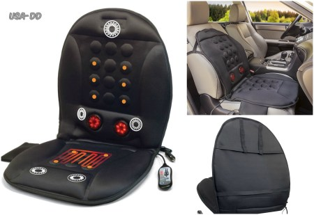 heated back shiatsu massage chair cushion car seat lumbar pain home massager ebay. Black Bedroom Furniture Sets. Home Design Ideas