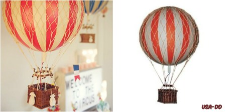 Hot Air Balloon Home Decor Floating The Skies Red